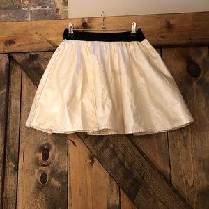 Urban outfitters white shimmer skirt